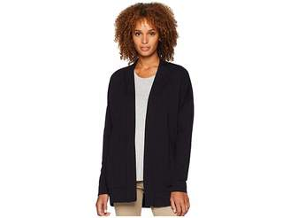 Mod-o-doc Cotton Modal Fleece Drop Shoulder Cardigan
