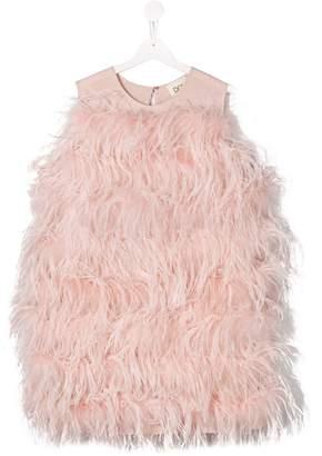 Douuod Kids sleeveless feather dress