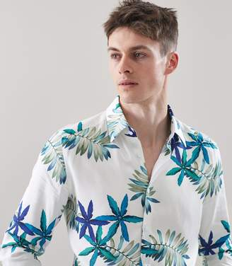Reiss Fiji Ls Long Sleeved Hawaiian Print Shirt