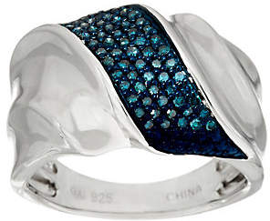 Affinity Diamond Jewelry Pave' Colored Diamond Ring, Sterling, 1/4 cttwby Affinity