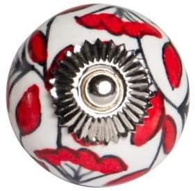 KNOB IT Set of Four Vintage Hand-Painted Ceramic Knob