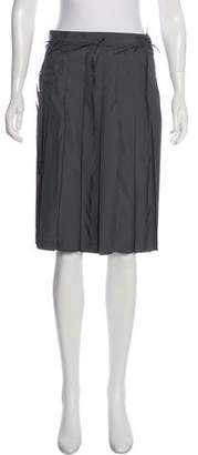 Issey Miyake Distressed A-Line Skirt