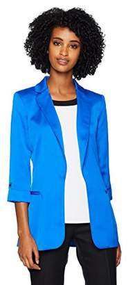 Calvin Klein Women's Open Jacket with Roll Tab Sleeves
