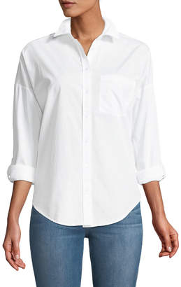 Dex Embroidered-Back Button-Front Shirt
