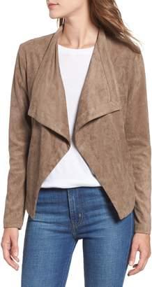 BB Dakota Nanette Faux Suede Drape Front Jacket