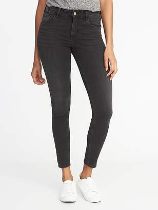 Old Navy Mid-Rise Rockstar Black Super Skinny Jeans for Women