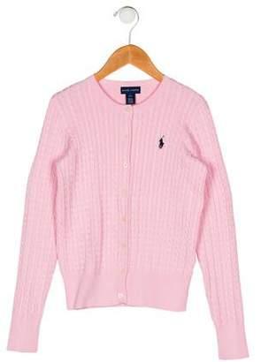 Ralph Lauren Girls' Cable Knit Cardigan