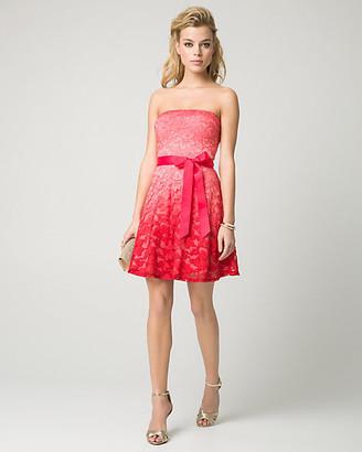 Le Château Ombre Lace Strapless Party Dress