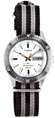 Todd Snyder Timex + Maritime Sport MS1 Watch in Silver