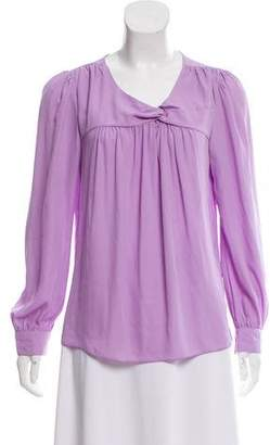 Walter Baker Long Sleeve V-Neck Top