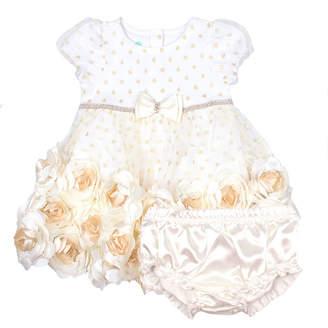 Nanette Baby Short Sleeve Empire Waist Dress - Baby Girls