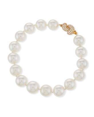 Assael South Sea Pearl Bracelet with Diamond Knot Clasp