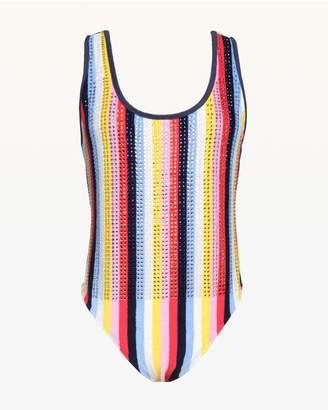 Juicy Couture Swarovski Malibu Stripe Microterry Bodysuit