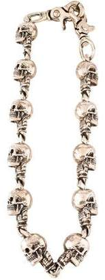 Chrome Hearts Sterling Skull Wallet Chain