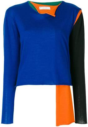J.W.Anderson asymmetrical colour-block sweater