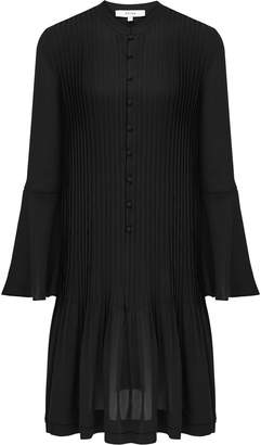 Reiss SYLVAN PLEATED SHIRT DRESS Black