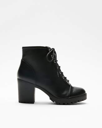 Express Lace-Up Heeled Lug Boots