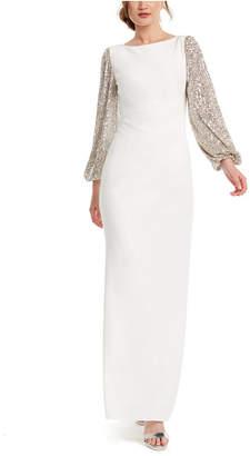 Adrianna Papell Balloon-Sleeve Gown