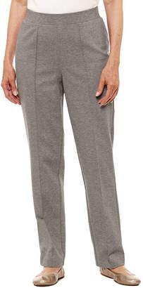 Alfred Dunner Arizona Sky Slim-Fit Flat Front Pants-Petites Short