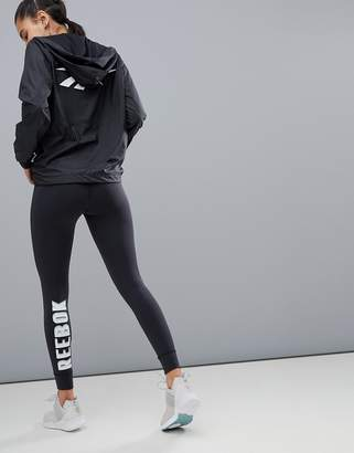 Reebok Training Logo Leggings In Black
