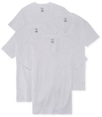 STAFFORD Stafford 4-pk. Cotton V-Neck T-Shirts