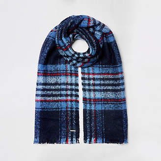 River Island Womens Blue check scarf