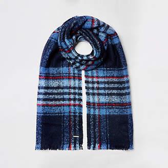 River Island Blue check scarf