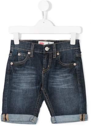Levi's Kids five pockets denim shorts
