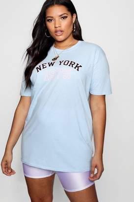 boohoo Plus New York 1975 T Shirt