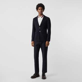 Burberry Slim Fit Metal Button Wool Gabardine Blazer