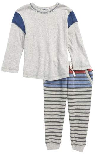 T-Shirt & Stripe French Terry Pants