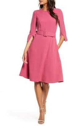 Harper Rose Belted Fit & Flare Dress