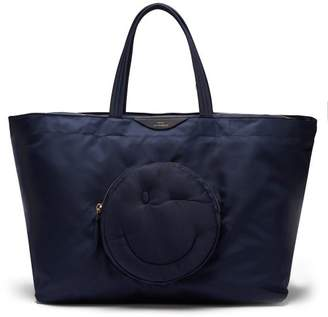 Anya Hindmarch Chubby Wink Nylon Tote Bag - Womens - Dark Blue