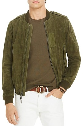 Polo Ralph Lauren Suede Bomber Jacket $995 thestylecure.com