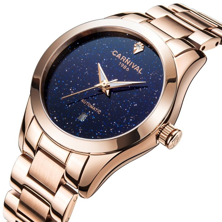 Carnival Women's Automatic Mechanical Female Watch Fashion Creative Sparkling Stars in the Sky
