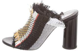 Proenza Schouler Woven Peep-Toe Sandals Yellow Woven Peep-Toe Sandals