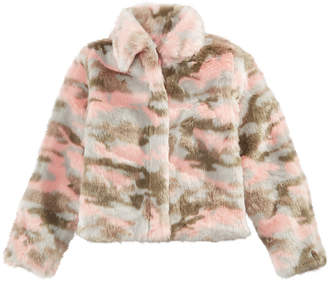 Epic Threads Big Girls Faux Fur Camouflage Jacket