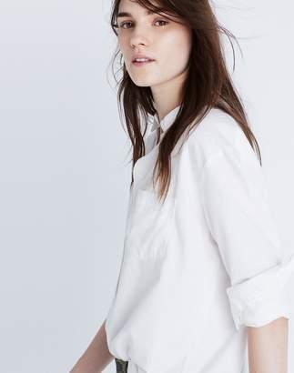 Drapey Oversized Boyshirt in Pure White $72 thestylecure.com