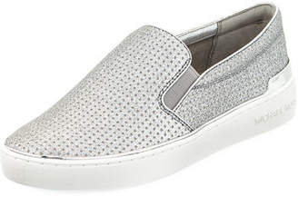 Slip on Sneakers for Women On Sale, Silver, Leather, 2017, 4.5 Michael Kors