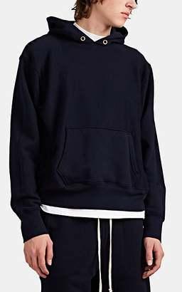 Les Tien Men's Cotton Mock-Turtleneck Hoodie - Navy