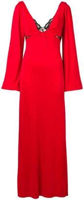 Christopher Kane lace bra long dress
