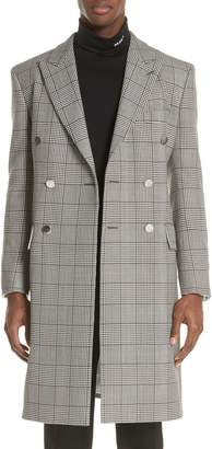 Calvin Klein Plaid Overcoat