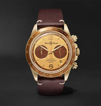 Bell & Ross + Revolution Bellytanker Chronograph 41mm Stainless Steel And Leather Watch