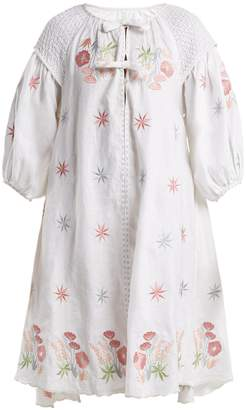 INNIKA CHOO Embroidered linen peasant dress