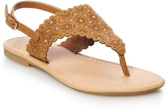 So SO Scalloped Girls' Thong Sandals