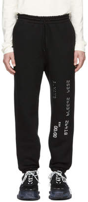 Alexander Wang Black Credit Card Lounge Pants