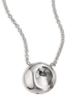 Large silver pendant necklace shopstyle ippolita 925 onda diamond large round pendant necklace aloadofball Choice Image