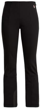 Flared Neoprene Ski Trousers - Womens - Black