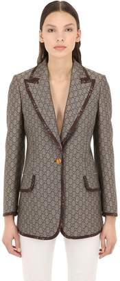 Gucci Gg Supreme Cotton & Wool Blend Blazer