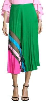 Milly Accordion Pleat Maxi Skirt